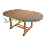 teak garden furniture Round Ext Table 120-180 ( 3.5 cm top ) Small Slat