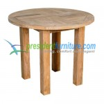 teak garden furniture Round Fix Base Table 100