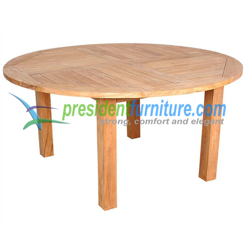 teak garden furniture Round Fix Base Table 150
