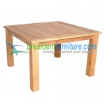 teak garden furniture Square Fix Base Table 120
