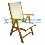 teak garden furniture Reclyning Batyline Chair