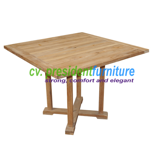 teak garden furniture Fixed Base Rect Table