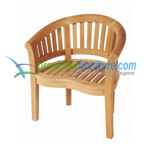 teak garden furniture Peanut Scroll Chair