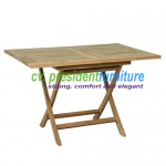 teak garden furniture Rect Folding Table
