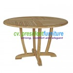 teak garden furniture Round Dinning Table Unique Legs