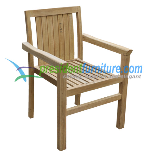 teak garden furniture Stacking Chair