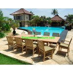 teak garden furniture Cushion Briana Dining Side Chair Set