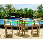 teak garden furniture Cushion Carol Bar Chair Set