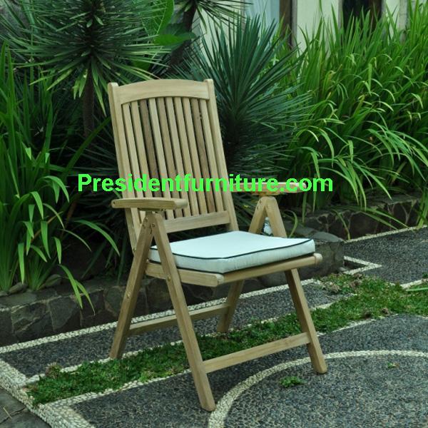 teak garden furniture Cushion Fir Dorset Small Slats ( Solid Brass )