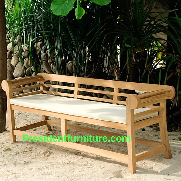 teak garden furniture Cushion For Half Marlboro Bench