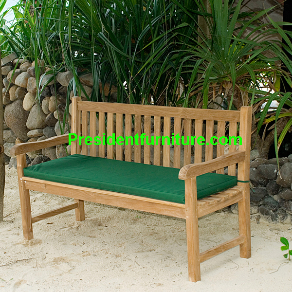teak garden furniture Cushion For Straight Back Bench