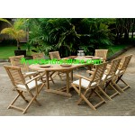 teak garden furniture Cushion Garuda Folding Arm Chair Set