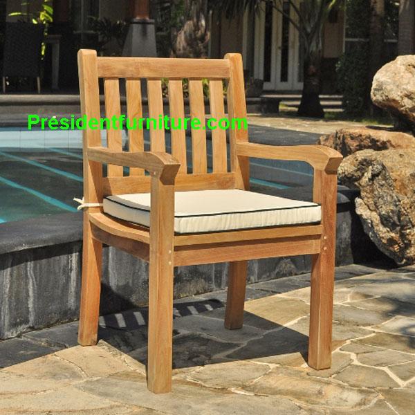 teak garden furniture Cushion Kingstone Arm Chair