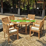 teak garden furniture Cushion Kingstone Arm Chair Set