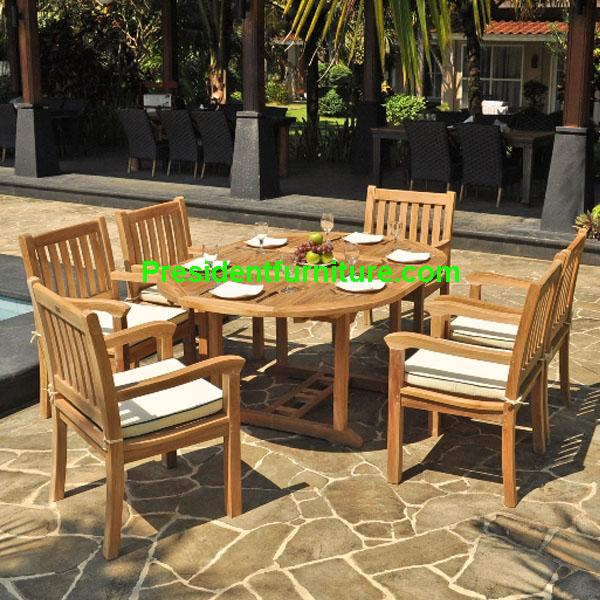 teak garden furniture Cushion Kingstone Arm Chair Set
