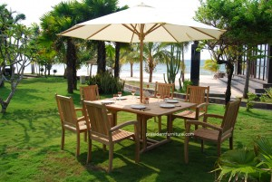 Set Teak Furniture with umbrella