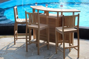 Teak Outdoor Bar