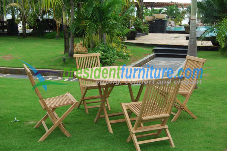 Teak garden furniture Folding chair 4 Seater best seller